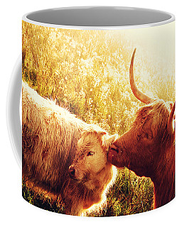 Fenella With Her Daughter. Highland Cows. Scotland Coffee Mug