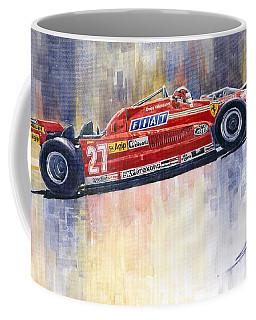 Ferrari 126 Ck Gilles Villeneueve Spanish Gp 1981 Coffee Mug