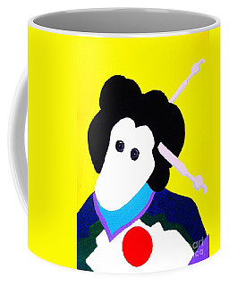 Festival Doll With Shoe Button Eyes Coffee Mug by Roberto Prusso