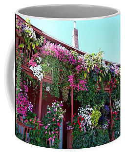 Coffee Mug featuring the photograph Festooned In Flowers by Will Borden