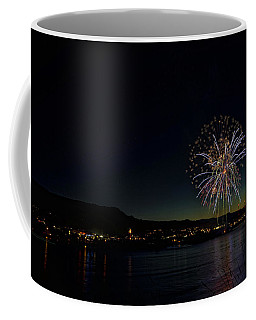 Fireworks On The River Coffee Mug
