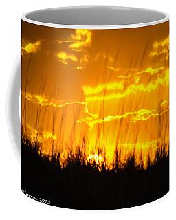 Coffee Mug featuring the photograph Firey Sunset by Shannon Harrington