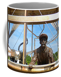 Coffee Mug featuring the sculpture First In Flight  by Lydia Holly