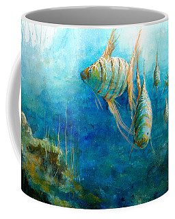 Coffee Mug featuring the painting Fish by Andrew King