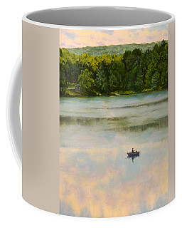 Coffee Mug featuring the painting Fishing In The Clouds by Joe Bergholm