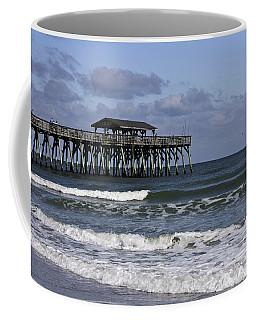 Fishing On The Pier Coffee Mug