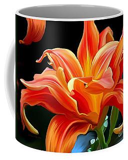 Flaming Flower Coffee Mug by Patricia Griffin Brett