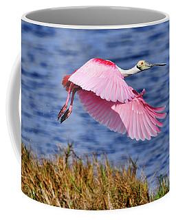 Flight A Roseate Spoonbill Coffee Mug