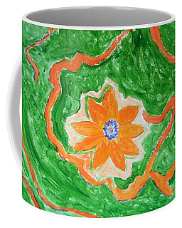Coffee Mug featuring the painting Floating Flower by Sonali Gangane