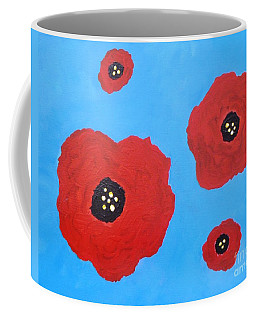 Coffee Mug featuring the painting Floating Flowers by Alys Caviness-Gober