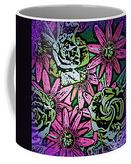 Coffee Mug featuring the digital art Floral Explosion by George Pedro