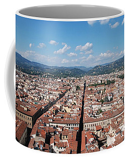 Coffee Mug featuring the photograph Florence From The Duomo by Dany Lison