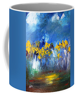 Flowers Of Maze In Blue Coffee Mug
