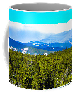 Coffee Mug featuring the photograph Fog In The Rockies by Shannon Harrington
