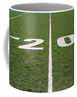 Coffee Mug featuring the photograph Football Field Twenty by Henrik Lehnerer