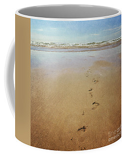 Footprints In The Sand Coffee Mug by Lyn Randle