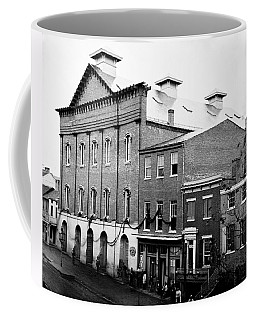 Coffee Mug featuring the photograph Fords Theater - After Lincolns Assasination - 1865 by International  Images