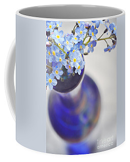 Forget Me Nots In Deep Blue Vase Coffee Mug by Lyn Randle