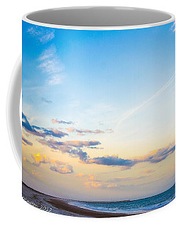 Coffee Mug featuring the photograph Forte Clinch Pier by Shannon Harrington
