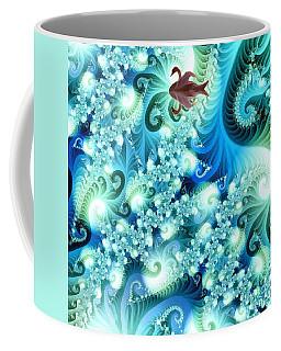 Fractal And Swan Coffee Mug