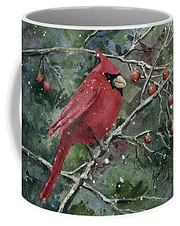 Coffee Mug featuring the painting Franci's Cardinal by Sam Sidders