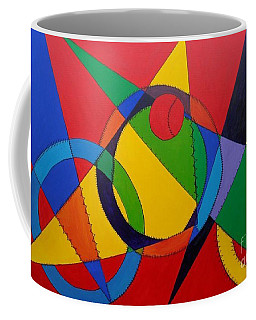 Coffee Mug featuring the painting Frankenball by Julie Brugh Riffey
