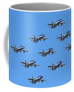 Frecce Tricolori Diamond 9 Coffee Mug by Ken Brannen