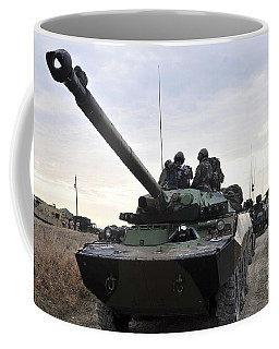 French Marines Lead A Convoy Of Combat Coffee Mug