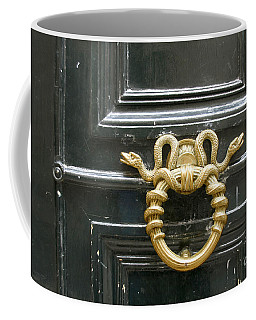 Coffee Mug featuring the photograph French Snake Doorknocker by Victoria Harrington