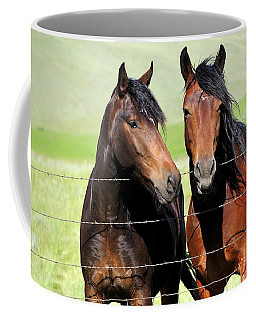 Coffee Mug featuring the photograph Friends by Fran Riley