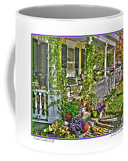 Front Porch In Fall Coffee Mug