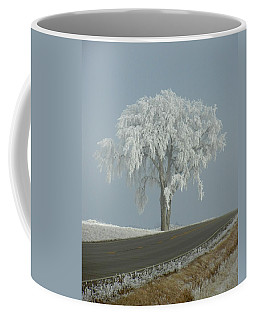 Coffee Mug featuring the photograph Frost On The Big Tree  by Penny Meyers