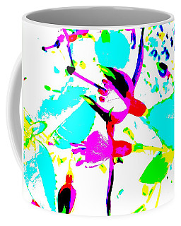 Coffee Mug featuring the digital art Fuchsia by Barbara Moignard