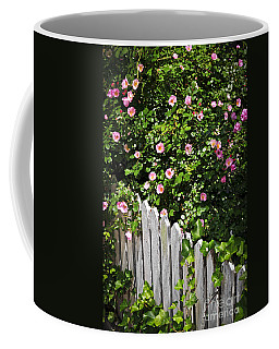 Garden Fence With Roses Coffee Mug