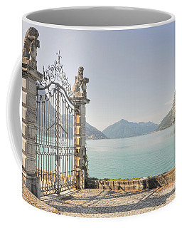 Gate On The Lake Front Coffee Mug