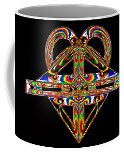Coffee Mug featuring the photograph Geometry Mask by Steve Purnell