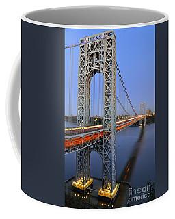 George Washington Bridge At Twilight Coffee Mug by Zawhaus Photography