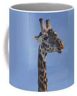 Coffee Mug featuring the photograph Giraffe Headshot by Tom Wurl
