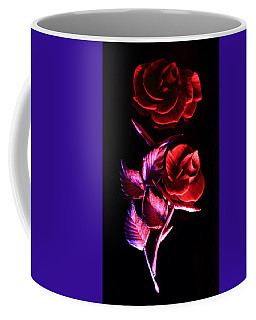 Glowing Glass Rose Coffee Mug