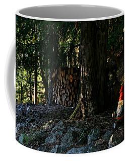 Gnome And The Woodpile Coffee Mug