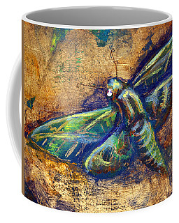 Gold Moth Coffee Mug