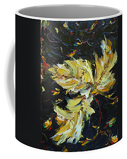 Coffee Mug featuring the painting Golden Flight by Judith Rhue