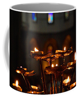 Coffee Mug featuring the photograph Golden Lights by Dany Lison