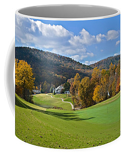 Golf Course In Autumn Coffee Mug