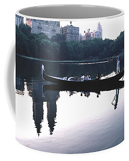 Coffee Mug featuring the photograph Gondola On The Central Park Lake by Tom Wurl