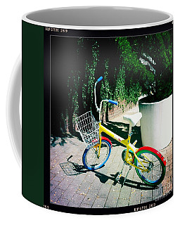 Coffee Mug featuring the photograph Google Mini Bike by Nina Prommer