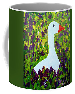 Coffee Mug featuring the painting Goose by Barbara Moignard