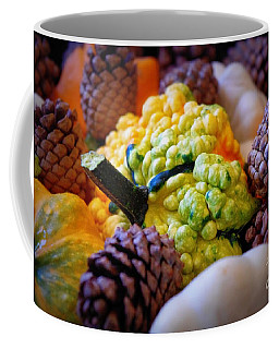 Coffee Mug featuring the photograph Gourds 2 by Deniece Platt