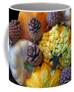 Coffee Mug featuring the photograph Gourds 5 by Deniece Platt