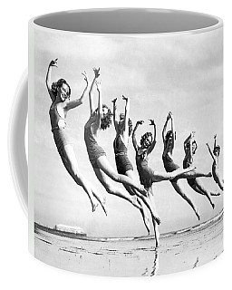 Graceful Line Of Beach Dancers Coffee Mug